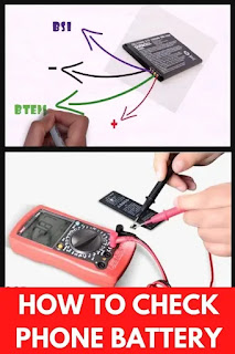 How to check phone battery with multimeter