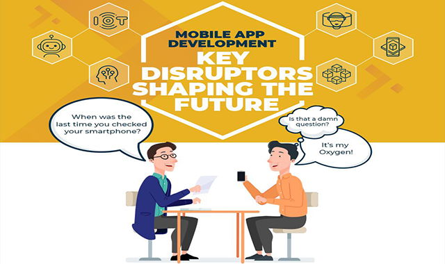Mobile App Development Key Disruptors Shaping The Future #infographic