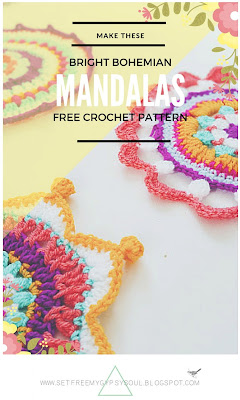 free mandala crochet pattern for bohemian home potholders