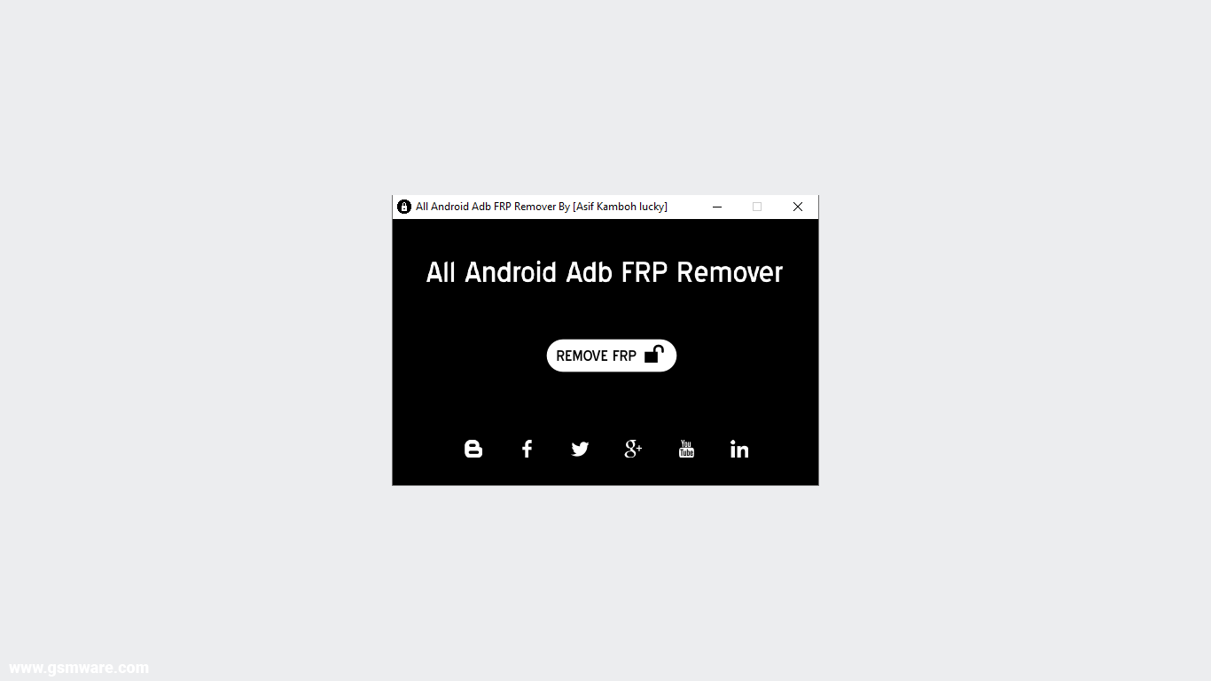 All Android ADB FRP Remover V1.0 Updated
