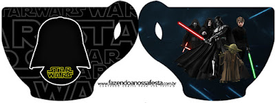 Star Wars Free Printable Cup Invitations.