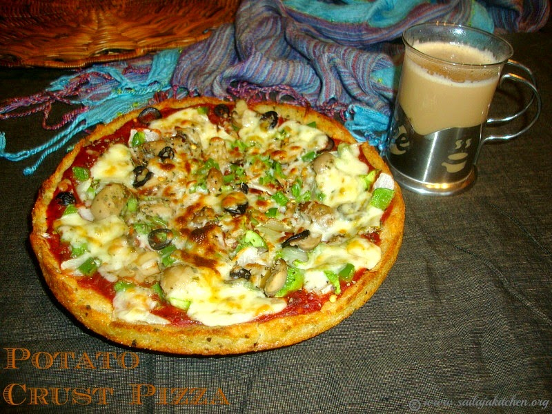 images for Potato Crusted Pizza Recipe ,Potato Pizza Recipe