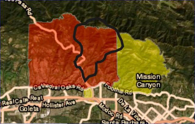 Evacuation map provided by LA Times