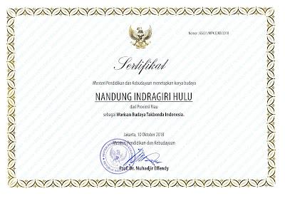 Warisan Budaya Tak Benda Riau 2018 Nandung Inderagiri Hulu (Inderagiri Hulu)