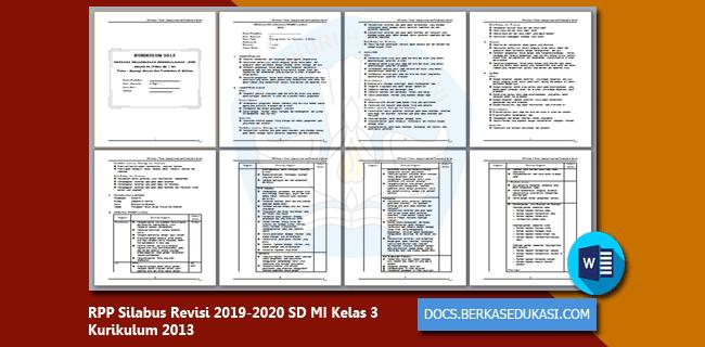 RPP Silabus Revisi 2019-2020 SD MI Kelas 3 Kurikulum 2013