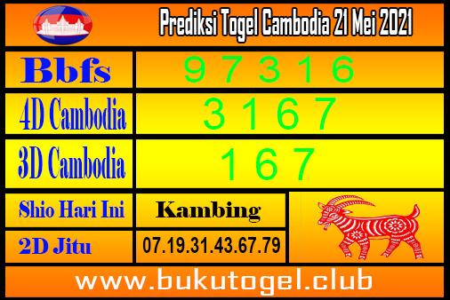 Prediksi Togel Cambodia 21 Mei 2021