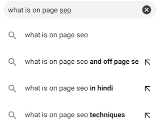How improve your on page seo. on page seo activity