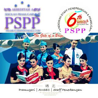 cara mendaftar sekolah pramugari PSPP
