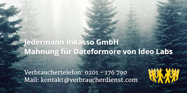 Jedermann Inkasso | GmbH | Mahnung für Dateformore von Ideo Labs
