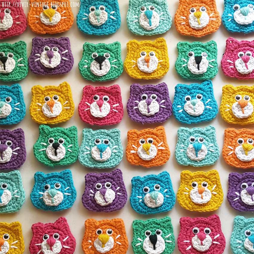 patron gato crochet