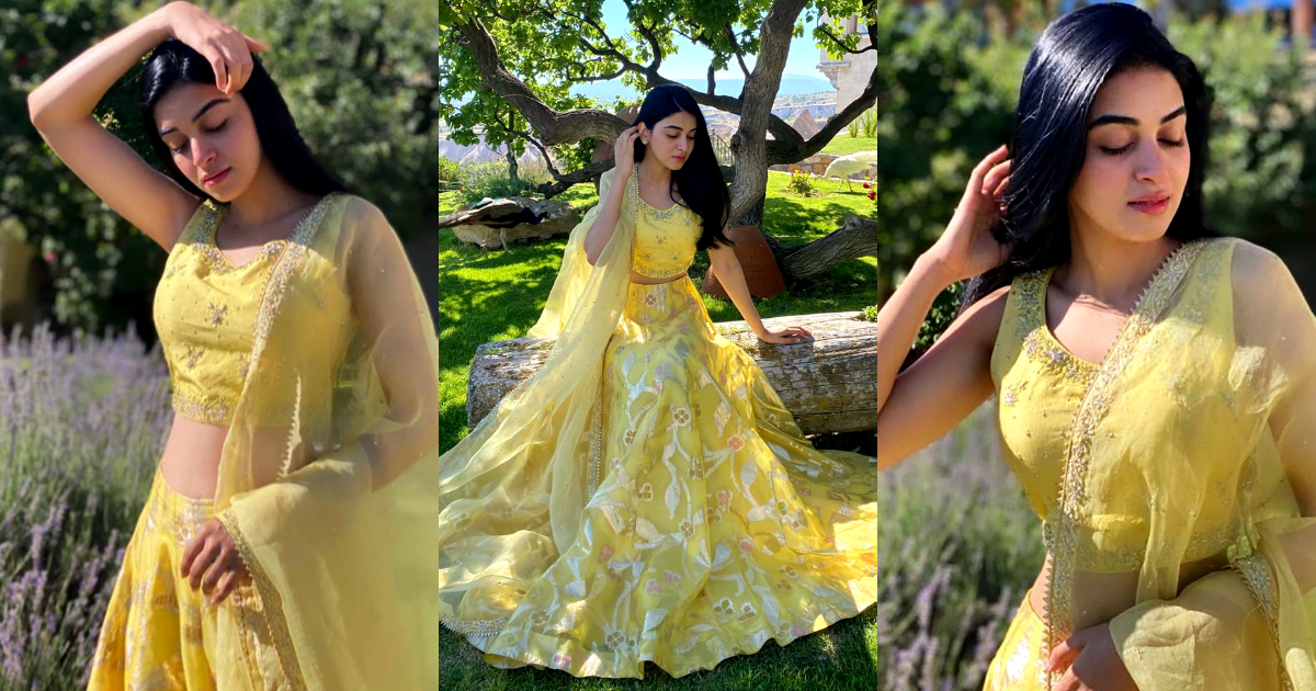 Qurbatain Star Anmol Baloch Awesome Shoot in Yellow Dress