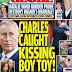 ΣΟΚ στη Βρετανία: Πρωτοσέλιδο ο Κάρολος να φιλιέται με νεαρό άνδρα