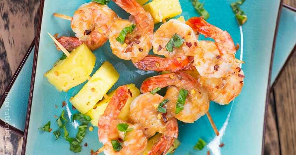 Shrimp And Pineapple Skewers With Peanut Sauce Recipe - Yummy Recipes