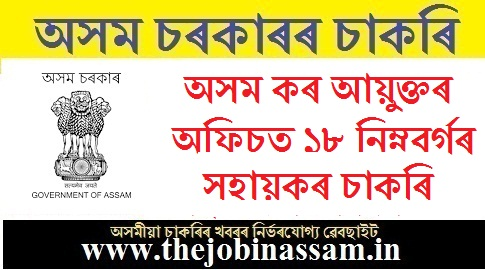 Office the Commissioner of Taxes Recruitment 2019