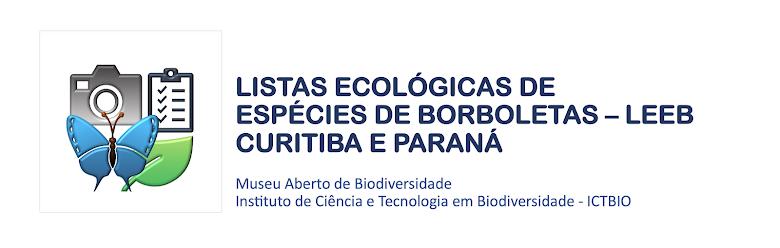 Listas Ecológicas de Espécies de Borboletas LEEB - Curitiba e Paraná