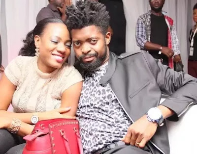 Bright Okpocha popularly called Basketmouth and his wife