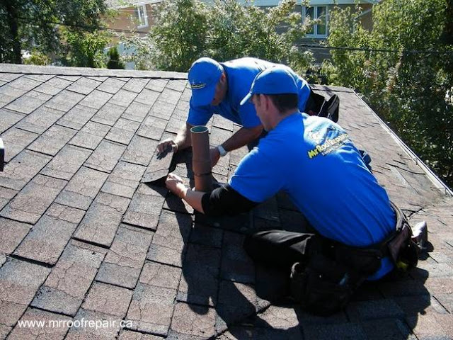 Inspección de un techo inclinado