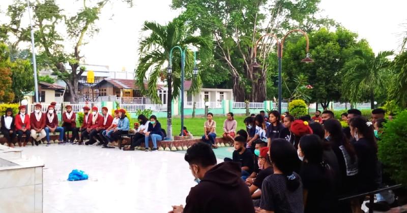 Tragedi KRI Nanggala 402, PMKRI Maumere Gelar Aksi Seribu Lilin