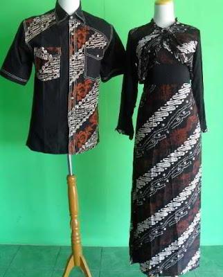 Model Baju Batik Kombinasi Bolero pasangan