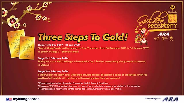 Three steps to Gold!