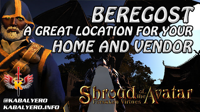 Beregost, A Great Location For Your Home And Vendor 🏠 Shroud Of The Avatar Player Owned Town