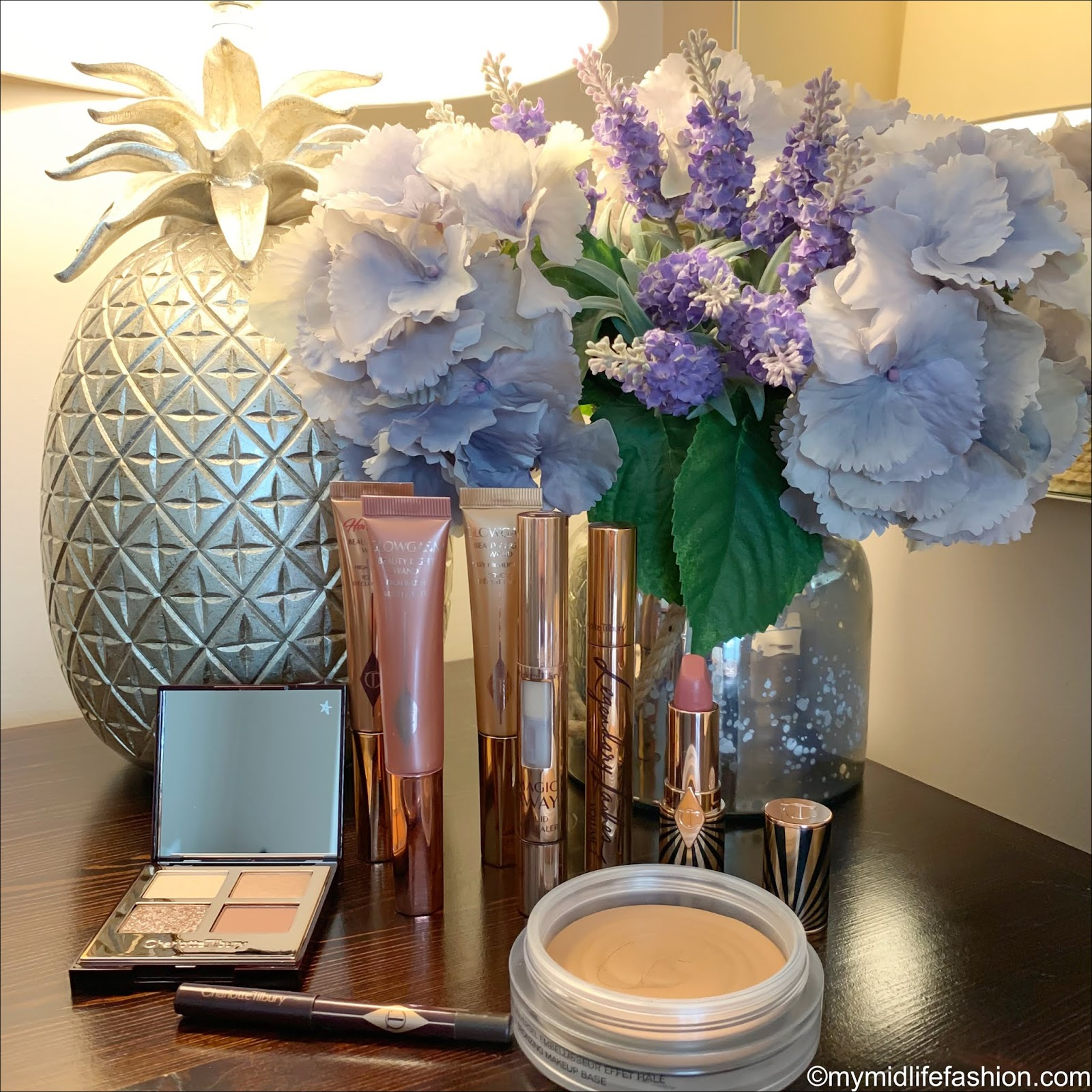 my midlife fashion, Charlotte tilbury, Charlotte tilbury Hollywood flawless filter,charlotte tilbury magic away liquid concealer, CHANEL Soleil tan de Chanel bronzing make up base, Charlotte tilbury Hollywood beauty light want in glowgasm goldgasm, Charlotte tilbury Hollywood beauty light wand in glowgasm pinkgasm, Charlotte tilbury Hollywood beauty light want in Hollywood spotlight, Charlotte tilbury exaggerates eye palette, Charlotte tilbury rock n kohl in barbarella brown, Charlotte tilbury legendary lashes volume 2, Charlotte tilbury hot lips 2 in love with Olivia