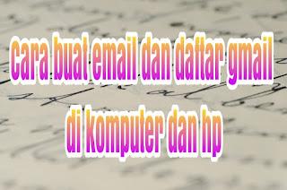 Cara buat gmail