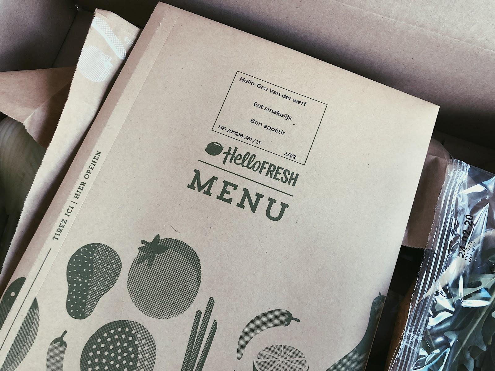 Mijn eerste ervaring met een maaltijdbox