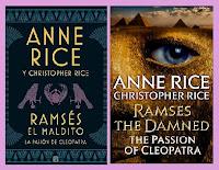 portadas de la novela de fantasía La pasión de Cleopatra, de Anne y Christopher Rice