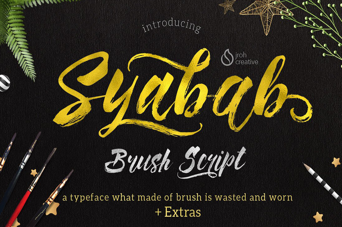Syabab brush script free download free script fonts
