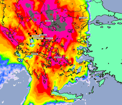 6 - Συννεφιές και βροχές την Δευτέρα και Τετάρτη σε μεγάλο μέρος της χώρας (+XAΡΤΕΣ ΥΕΤΟΥ)