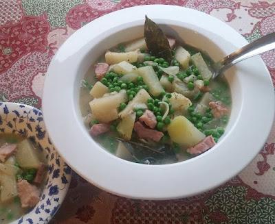 Ham & Kohlrabi Stew with Peas