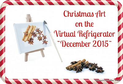 Virtual Refrigerator - Christmas Art: Bookish Tree and North Pole on Homeschool Coffee Break @ kympossiblenblog.blogspot.com #VirtualFridge #Christmas #art