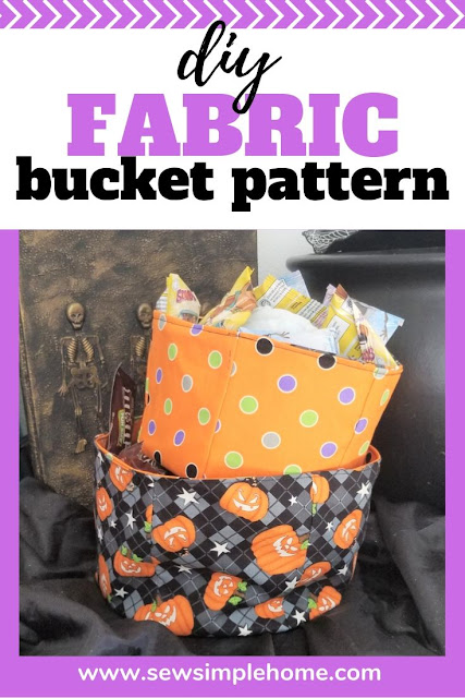 How to make a fabric bucket for all occasions including Halloween, Christmas or just to get organized.