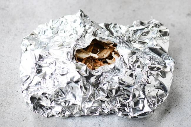 smoking with foil pouch