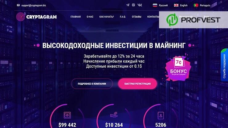 CryptaGram обзор и отзывы HYIP-проекта