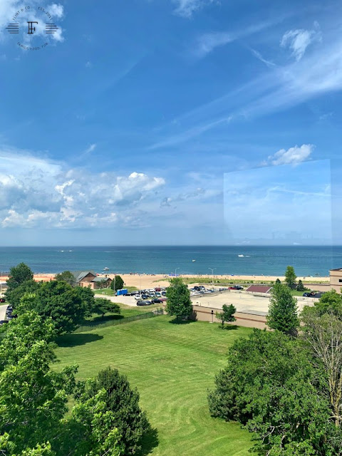 Views from Southport Lighthouse include Lake Michigan and Kenosha. Image credit Katy of Flint & Co.