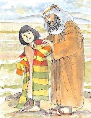 Giacobbe regala la veste a Giuseppe