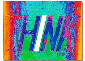 contemporary, multi coloured, art, wall art, modern canvas print, landscape, Sam Freek, urban decay, urban art, rainbow colours,