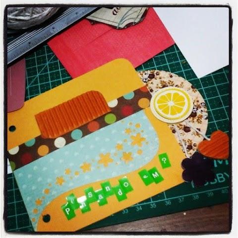 Sacola Craft e mini album de Scrapbook
