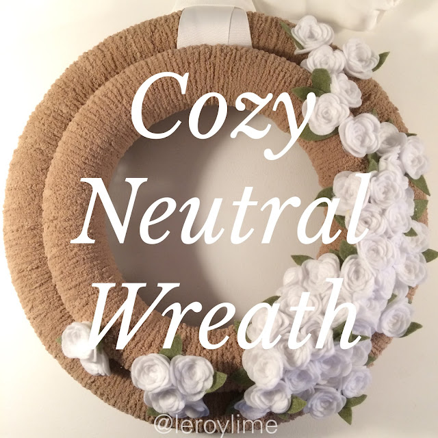 Cozy Neutral Wreath DIY - Fall Decor - LeroyLime