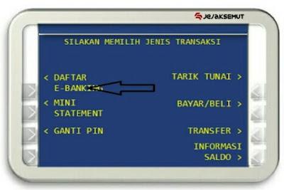 Cara Registrasi BJB Net lewat ATM