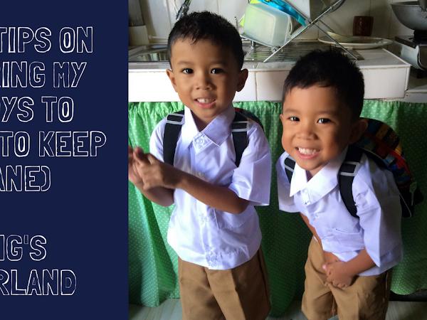 Simple Tips On Preparing My Twinboys To School (to keep me sane)