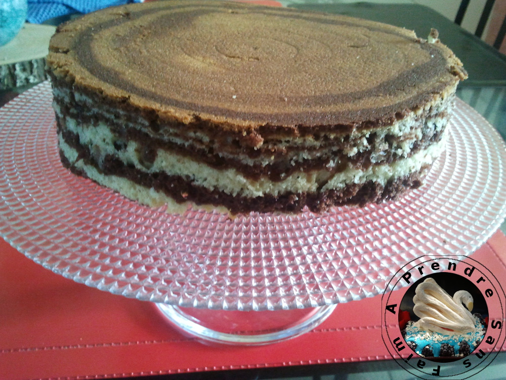 Gâteau marbré vanille, chocolat, orange (pas à pas en photos)