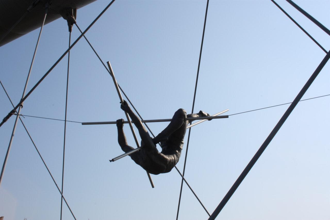 snackenglish, snack, trapeze, artist, somersault, show