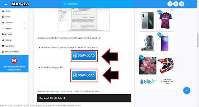 Cara Download Program/Software di Website MAS-13