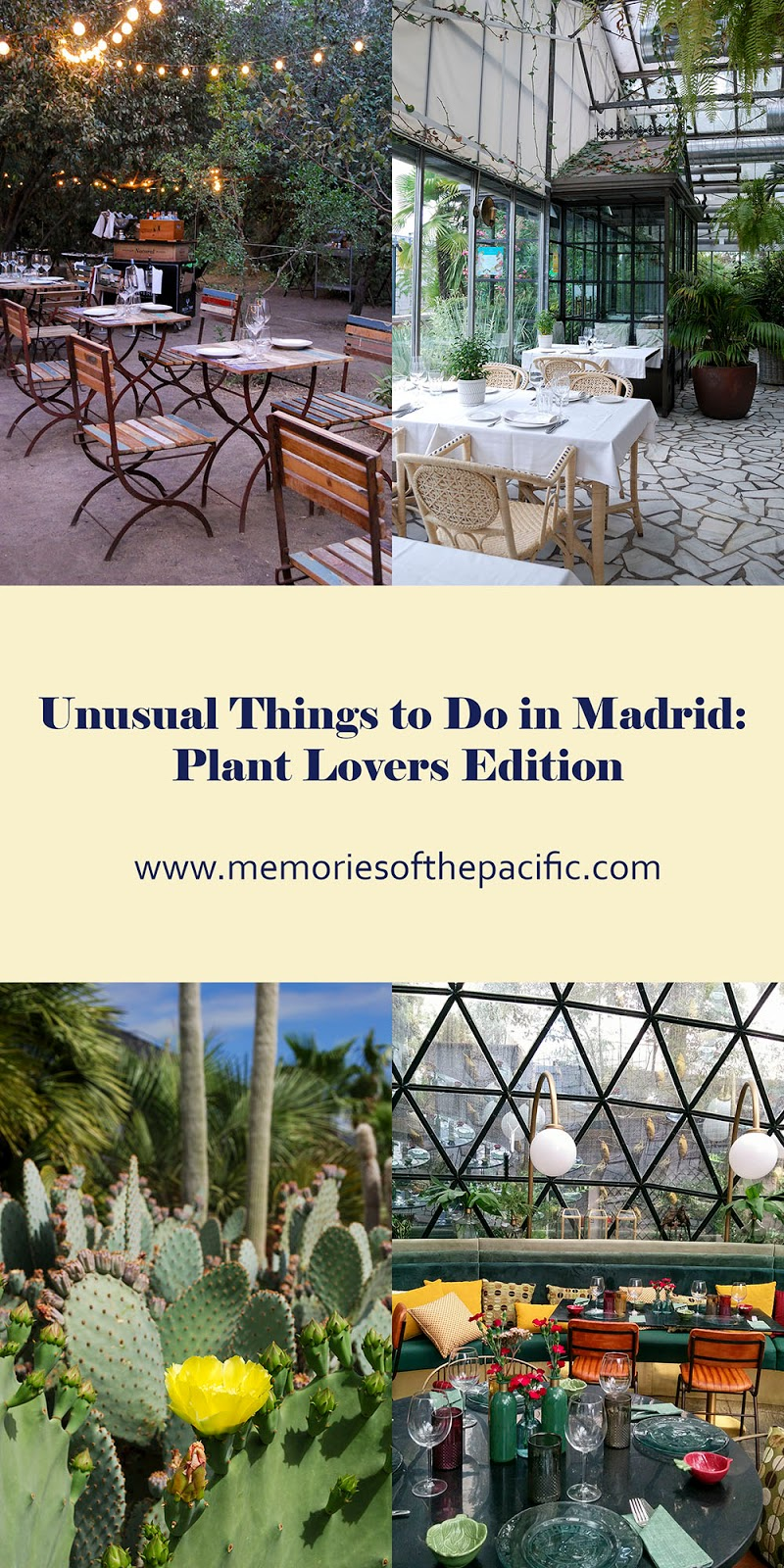 madrid plans nature plants garden events restaurants cool unusual unique