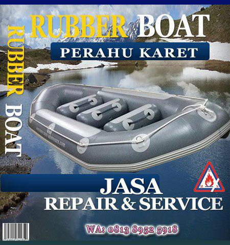 jual rubber boat dan jasa repair and service rubber boat