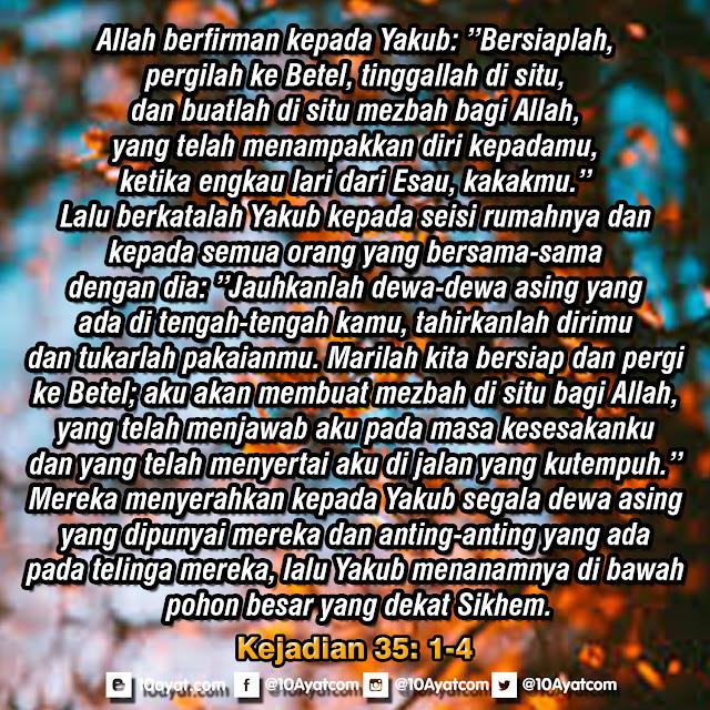 Kejadian 35: 1-4