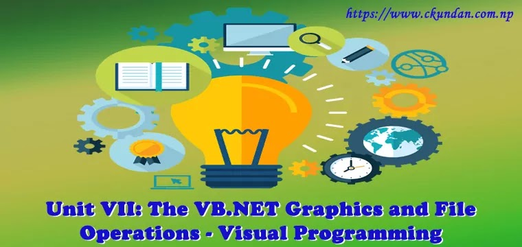 The VB.NET Graphics and File Operations – Visual Programming